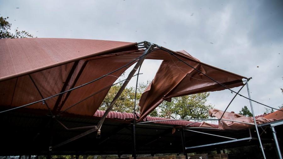 lourensford harvest market wind damage to stalls 2