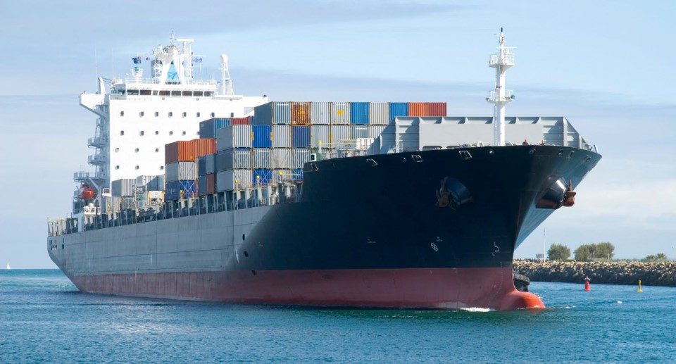 importing goods on a container ship