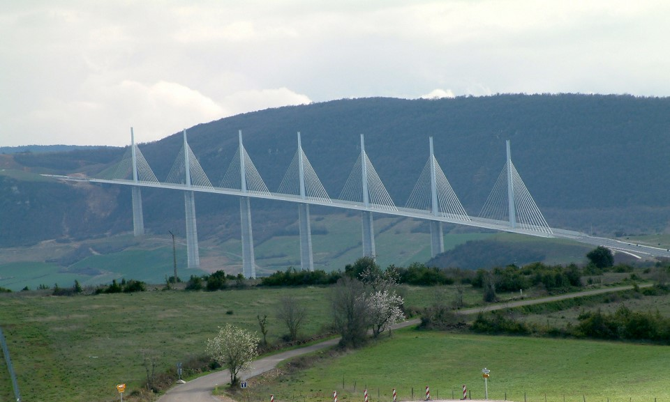 millau viaduct cable-stayed bridge in france - tallest in the world 2