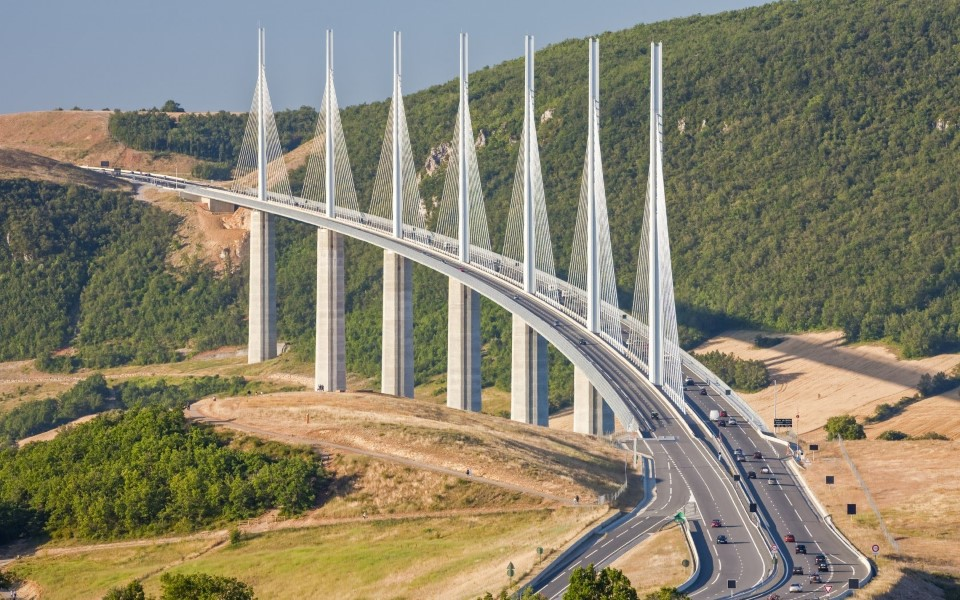 millau viaduct cable-stayed bridge in france - tallest in the world 4