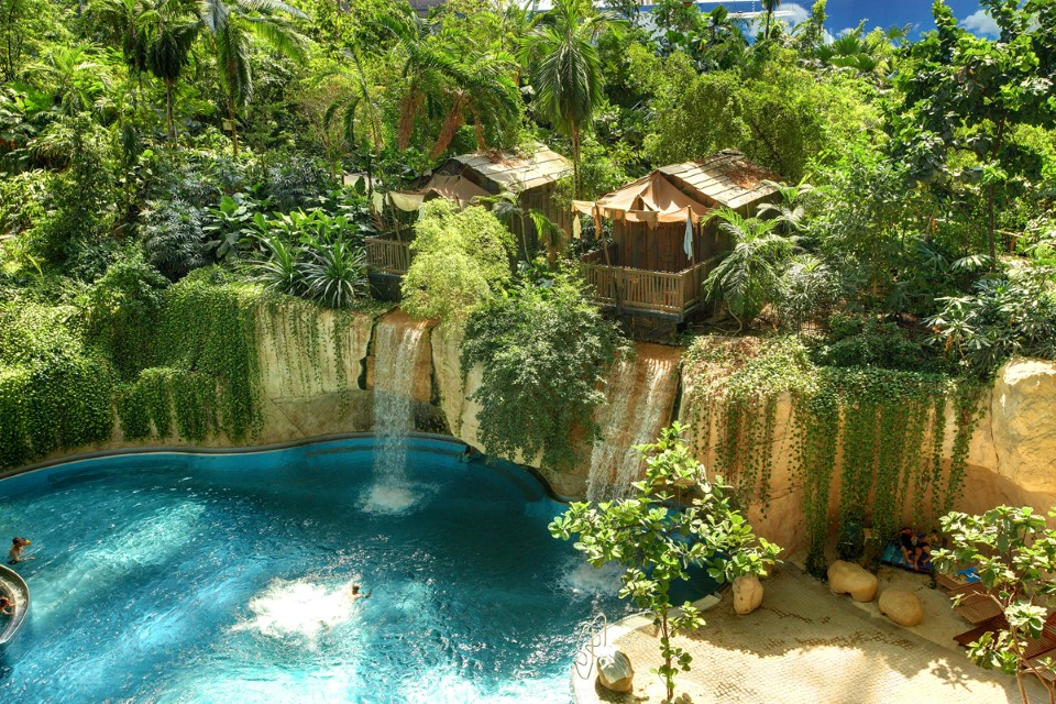 tropical islands world's largest indoor waterpark in germany wasserfall lodge 9