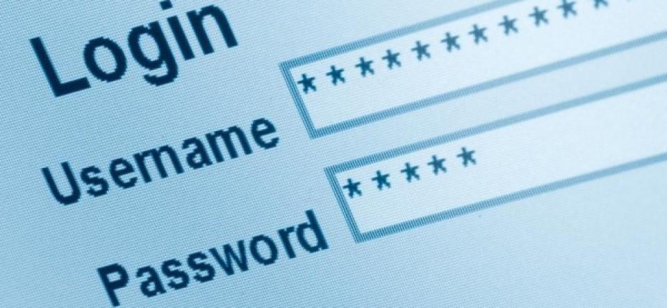 username password login screen