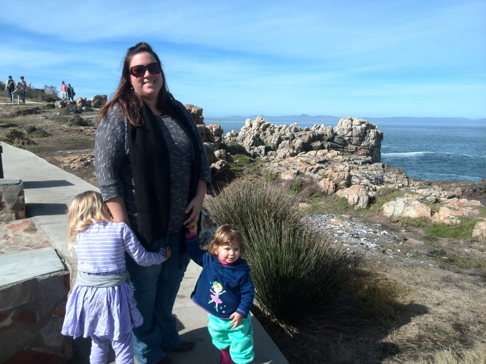 IMG_20150802_131912 chantelle lotter with the girls on the scenic hermanus cliff path