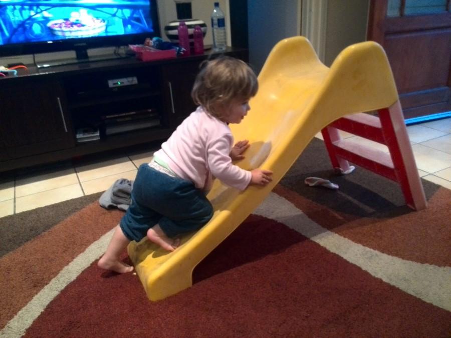 IMG_20150808_180442 emily clambering up her slide