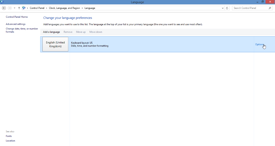 change keyboard layout screenshot 2