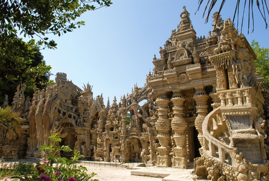 the ideal palace ferdinand cheval stone and pebble le palais ideal in hauterives france 1