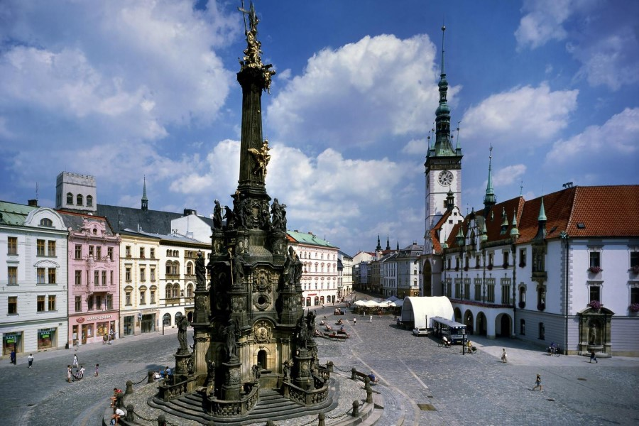 things to see in czech republic holy trinity column in olomouc - baroque monument 1