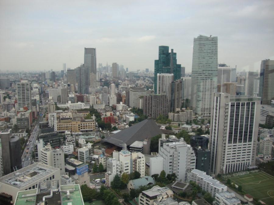 DSC07187 view of tokyo from tokyo tower in shiba, minato, tokyo