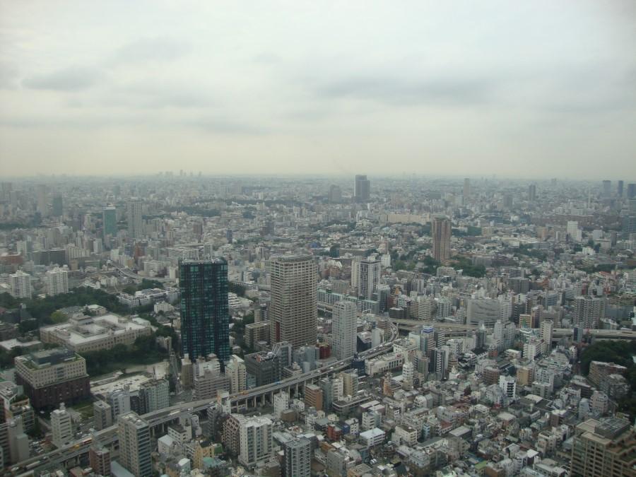 DSC07201 view of tokyo from tokyo tower in shiba, minato, tokyo