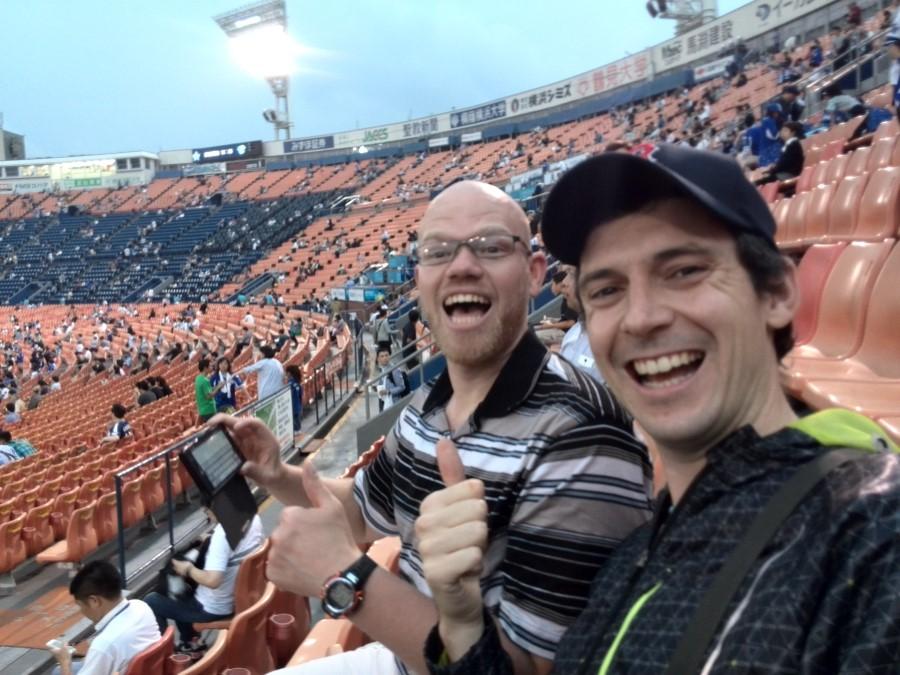 IMG_20141002_171702 ryan lotter and terrance lotter watching baseball at yokohama stadium japan