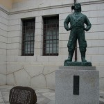 DSC07340 kamikaze pilot memorial at Yushukan War Memorial Museum in Chiyoda, Tokyo