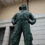 DSC07341 kamikaze pilot statue at Yushukan War Memorial Museum in Chiyoda, Tokyo