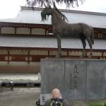 DSC07344 war horse memorial at Yushukan War Memorial Museum in Chiyoda, Tokyo