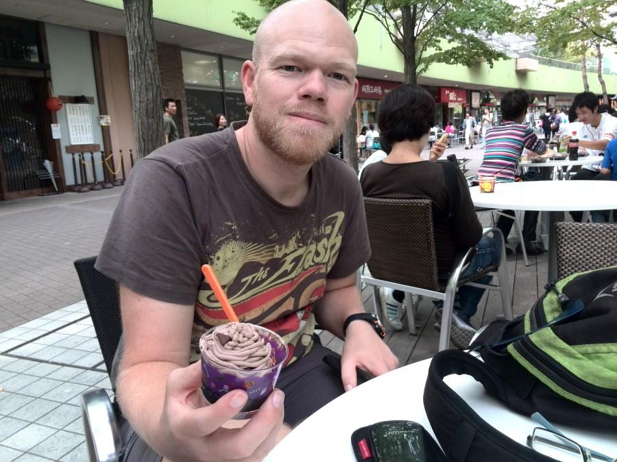 IMG_20141004_105126 ryan lotter eating baskin-robbins halloween ice cream at laqua in tokyo dome city
