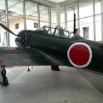 IMG_20141004_123814 mitsubishi a6m zero figher plane at Yushukan War Memorial Museum in Chiyoda, Tokyo