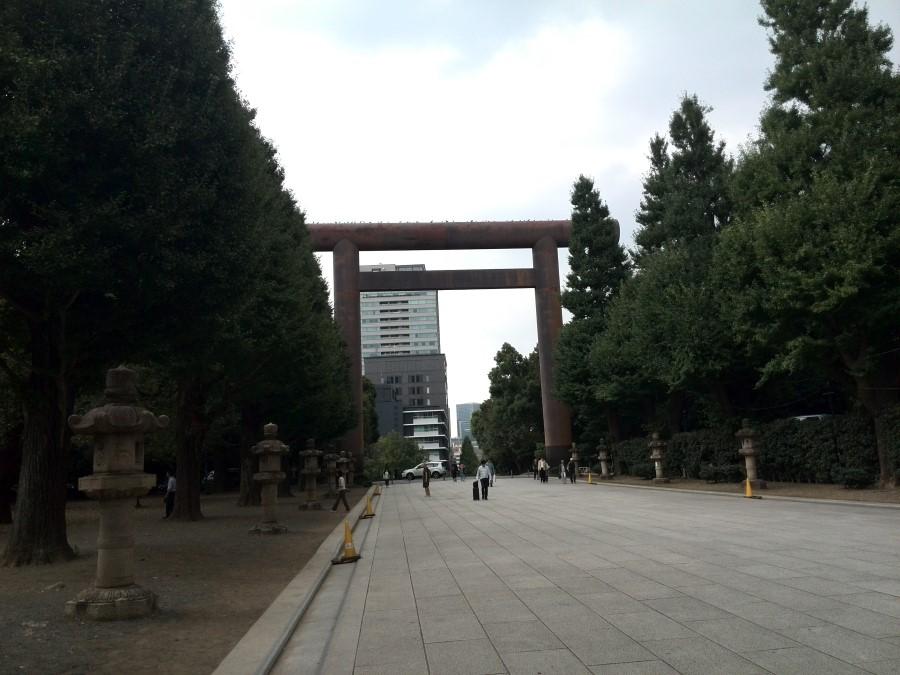 IMG_20141004_132438 exiting yasukuni shrine in chiyoda tokyo japan