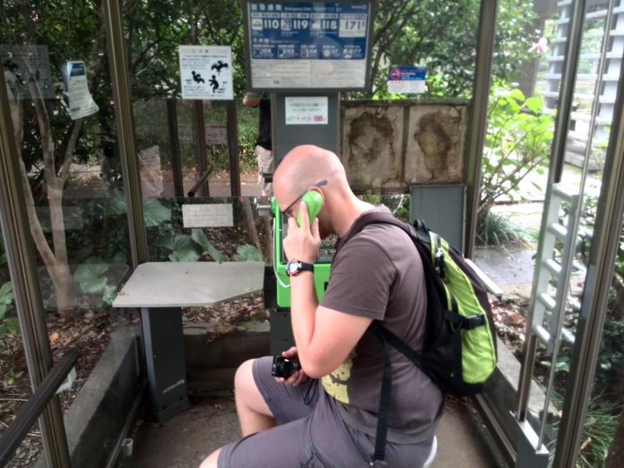 IMG_20141004_135603 ryan lotter in phone booth at kitanomaru park, chiyoda, tokyo