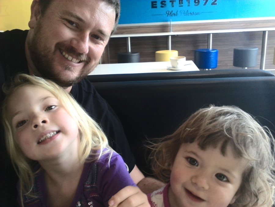 IMG_20151107_121341 Craig, Jessica and Emily Lotter selfie at Waterstone McDonalds