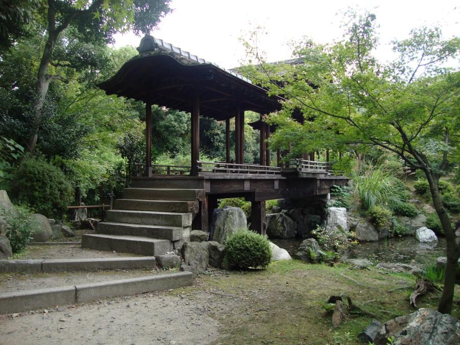 DSC07478 bridge at shosei-en garden in kyoto