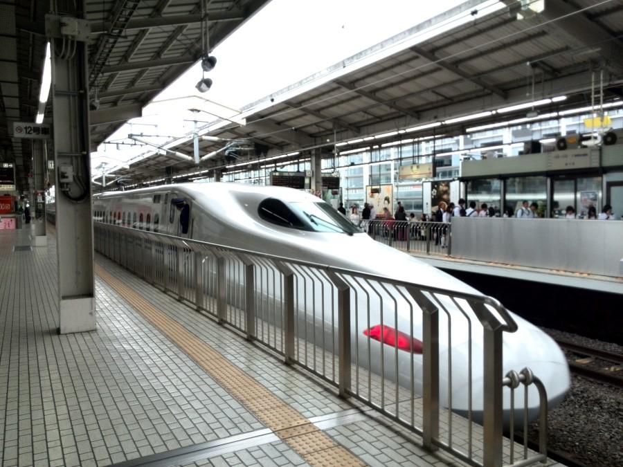 IMG_20141005_120017 shinkansen bullet train at the train station japan
