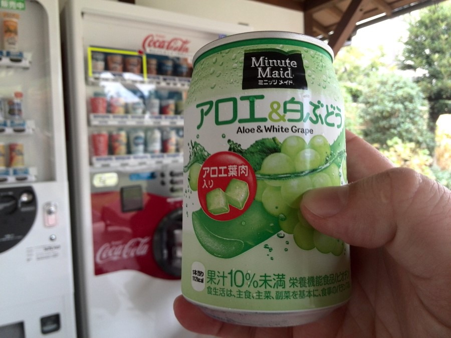 IMG_20141005_134739 white grape minute maid from a vending machine at shosei-en garden in kyoto