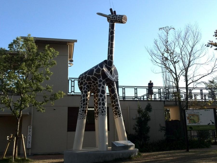 IMG_20141007_161915 giraffe sculpture at kyoto municipal zoo, kyoto, japan