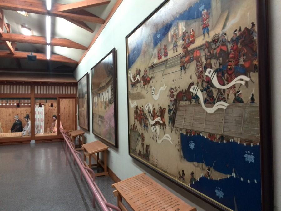 IMG_20141009_151113 kiso yoshinaka story murals at the yoshinaka yakata museum in miyanokoshi, japan