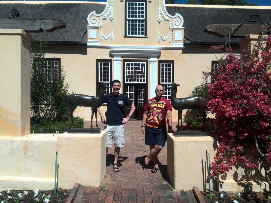 IMG_20160217_110745 ryan and terrance standing in front of the museum house at vergelegen wine estate in somerset west