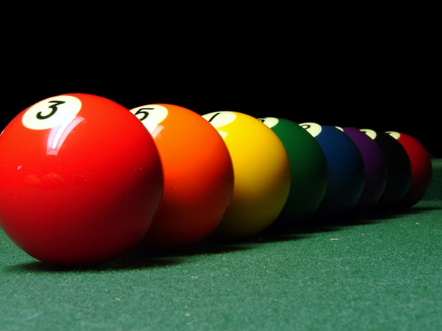 colour balls for a game of pool