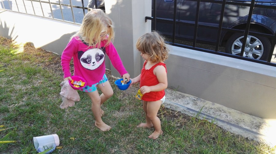 IMG_20160325_083934 emily and jessica hunting for easter eggs in gordon's bay