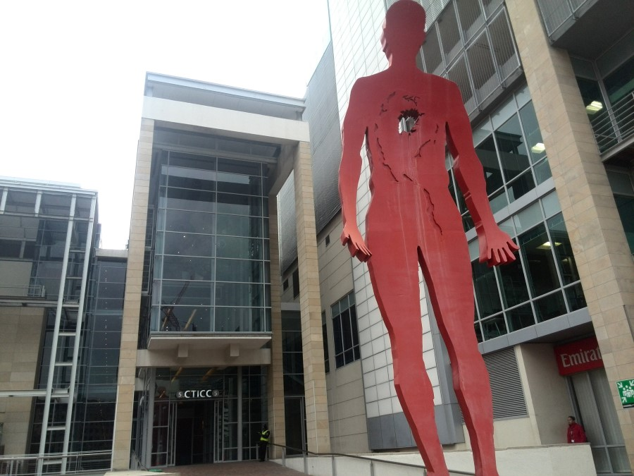 IMG_20150812_130246 red human sculpture outside the cape town international convention centre (cticc)