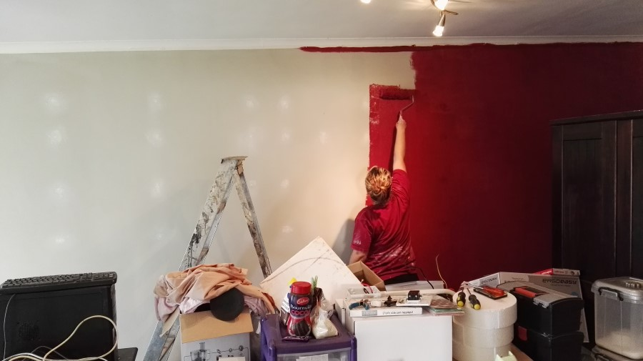 IMG_20160517_123433 kaylan from creative designs all sorts painting our braai room wall red