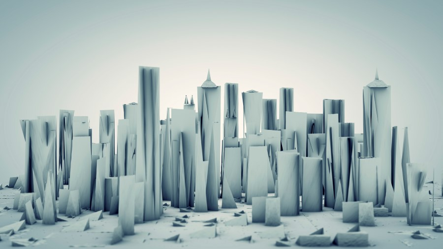 paper cityscape