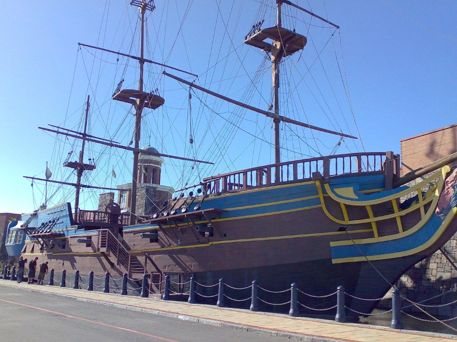 restored victoria ii tall ship moored at grandwest casino in cape town